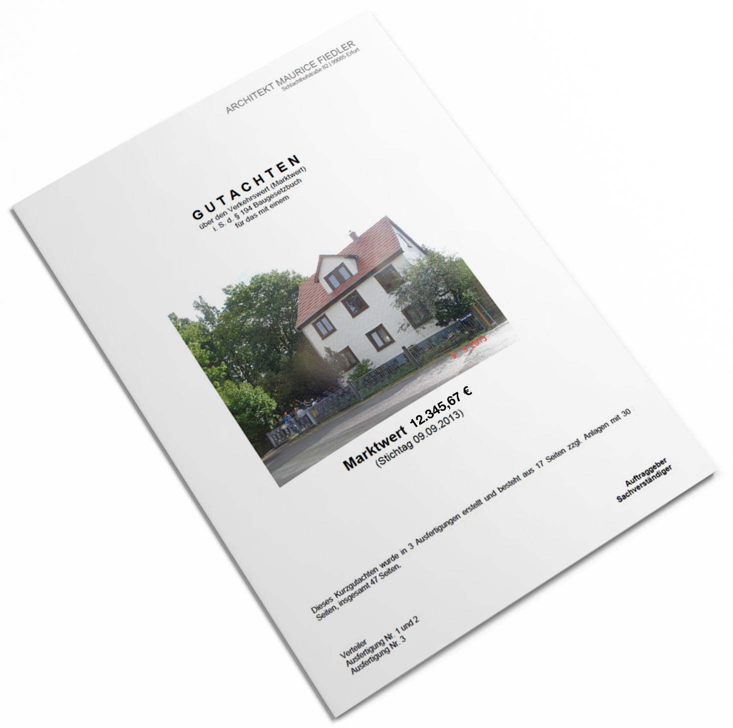 Immobilienbewertung - Verkehrswertgutachten bebaute/unbebaute Grundstücke